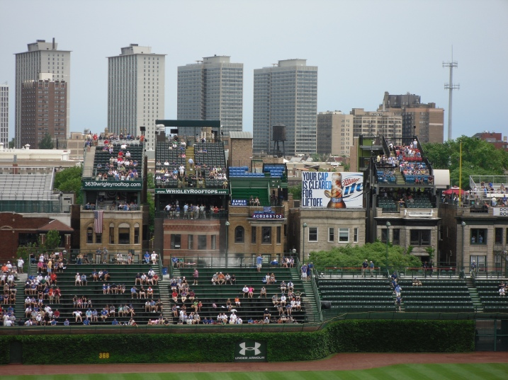 WHEN I visit Chicago again, I want to watch a game from the Wrigley Rooftops!