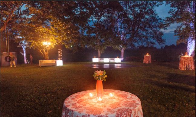 grove ceremony reception area