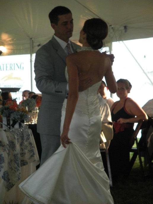 wedding dress train first dance