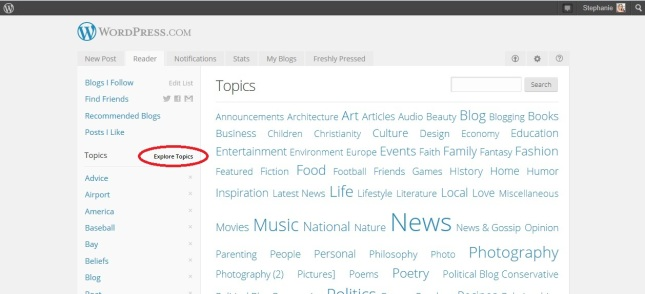 Wordpress topics