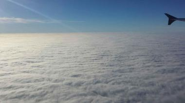The sky above the clouds in Philadelphia on December 12, 2014.