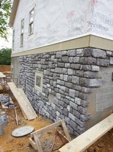 A picture of the stone in progress.