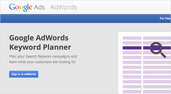 google adwords keyword planner