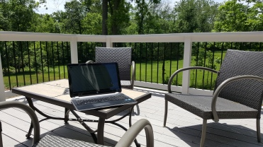 Working from home in the summer
