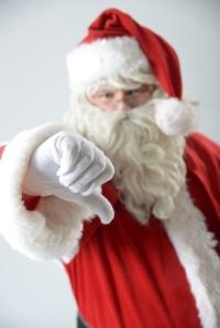 Weihnachtsmann mit Daumen runter